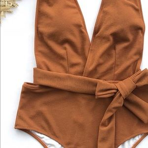 NWOT faux suede bathing suit